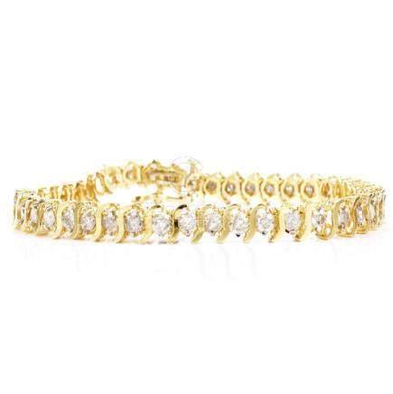 4.30ct TW Diamond and 14K Gold Bracelet