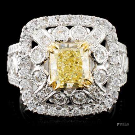 18K Gold 2.74ctw Fancy Diamond Ring