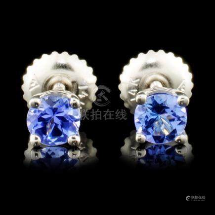 20014K Gold 0.70ctw Tanzanite Earrings