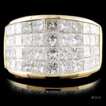 18K Yellow Gold 4.13ctw Diamond Ring