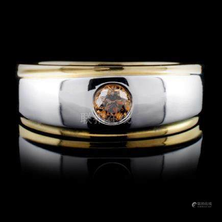 14K Two Tone 0.30ct Fancy Color Diamond Ring