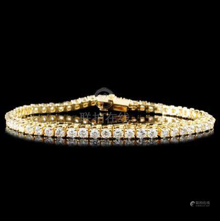 14K Gold 3.50ctw Diamond Bracelet