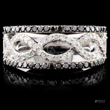 14K White Gold 0.75ctw Fancy Diamond Ring
