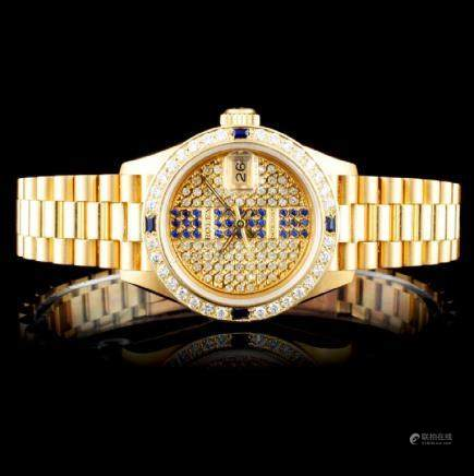 Rolex Presidential Diamond Ladies Watch