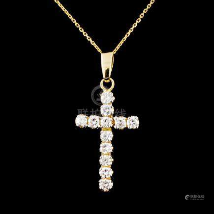 14K Gold 0.54ctw Diamond Pendant