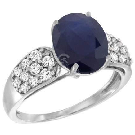 Natural 2.75 ctw blue-sapphire & Diamond Engagement