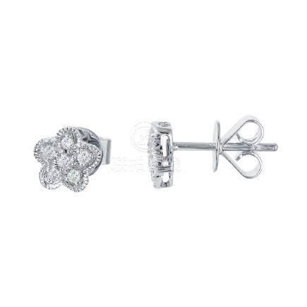 0.18 CTW Diamond Earrings 14K White Gold - REF-20Y5X