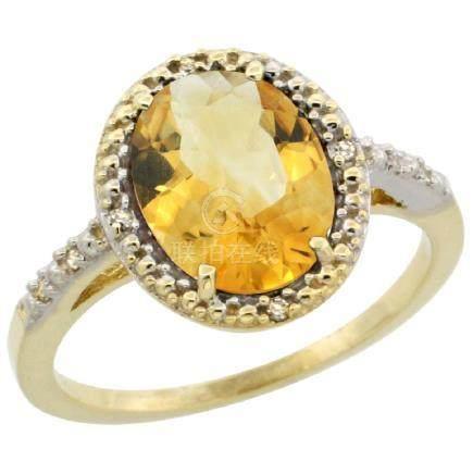 Natural 2.42 ctw Citrine & Diamond Engagement Ring 10K