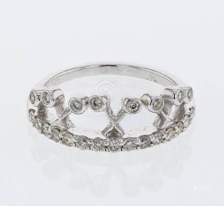 0.47 CTW Diamond Ring 14K White Gold - REF-42F5N