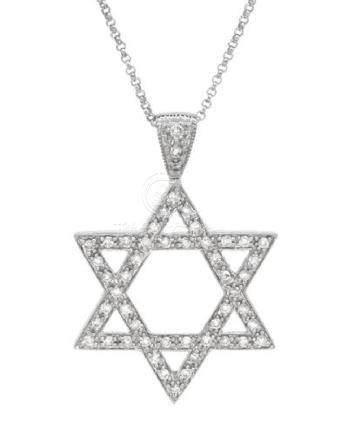 0.37 CTW Diamond Necklace 14K White Gold - REF-35R2K