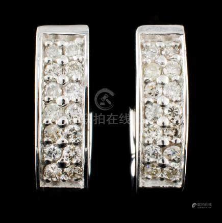 14K Gold 0.42ctw Diamond Earrings