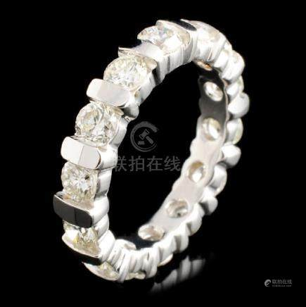 18K Gold 2.15ctw Eternity Diamond Ring
