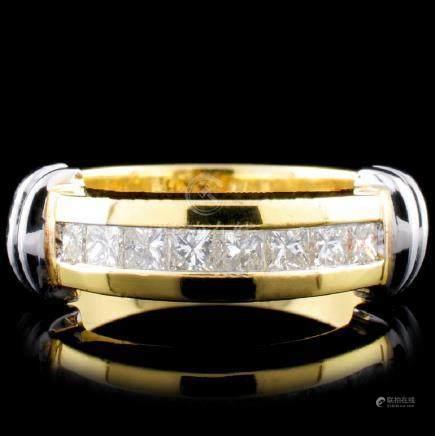 18K Gold 0.58ctw Diamond Ring