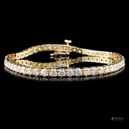 14K Gold 4.52ctw Diamond Bracelet