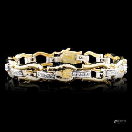 14K Gold 0.18ctw Diamond Bracelet