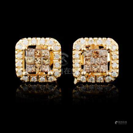10K Gold 0.38ctw Diamond Earrings