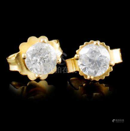 14K Gold 0.36ctw Diamond Earrings