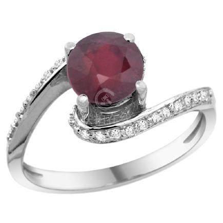 Natural 1.29 ctw ruby & Diamond Engagement Ring 10K