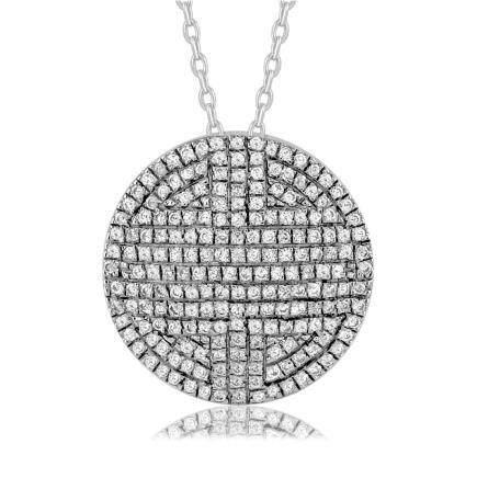 0.29 CTW Diamond Necklace 14K White Gold - REF-28W3H