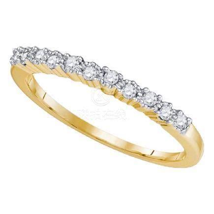 0.16 CTW Diamond Single Row Ring 10KT Yellow Gold -