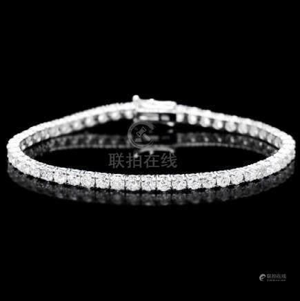 ^18k White Gold 7.00ct Diamond Bracelet