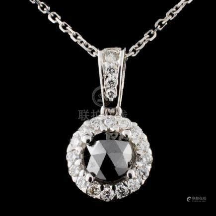 14K Gold 0.85ctw Fancy Diamond Pendant