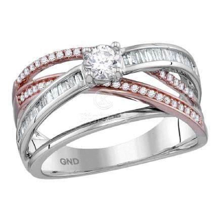 0.75 CTW Diamond Solitaire Bridal Engagement Ring 14KT
