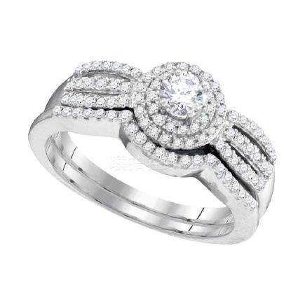 0.50 CTW Diamond Strand Bridal Wedding Engagement Ring