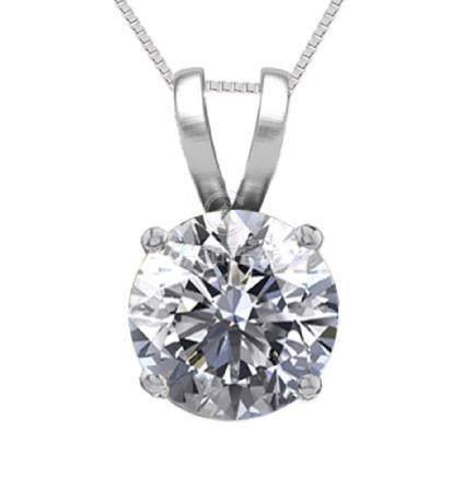 14K White Gold 0.50 ct Natural Diamond Solitaire
