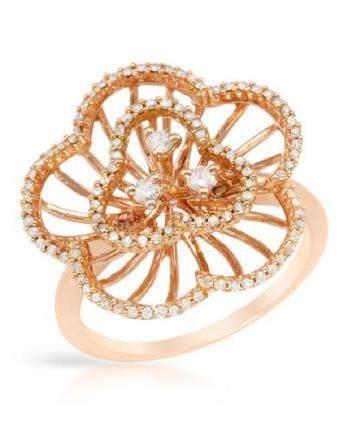 0.42 CTW Diamond Ring 14K Rose Gold - REF-44N3Y