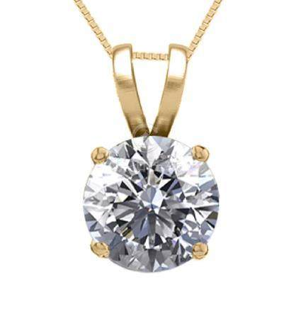 14K Yellow Gold 1.01 ct Natural Diamond Solitaire