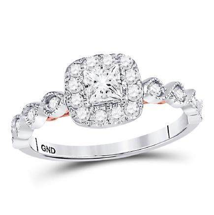 0.75 CTW Princess Diamond Solitaire Bellina Bridal Ring
