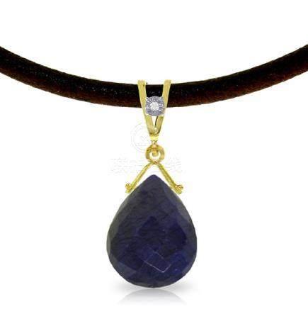 Genuine 7.81 ctw Sapphire & Diamond Necklace Jewelry