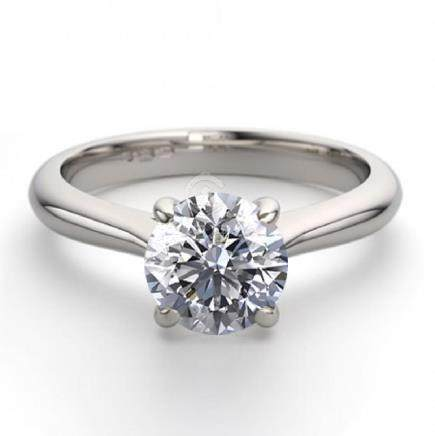 18K White Gold 1.24 ctw Natural Diamond Solitaire Ring