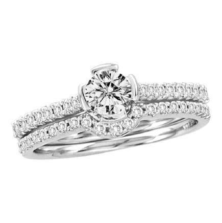 0.76 CTW Diamond Bridal Wedding Engagement Ring 14KT