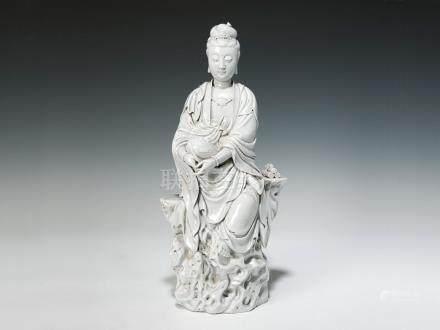 十八世紀 德化白瓷觀音座像