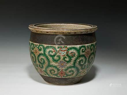 十九世紀 粉彩魚缸