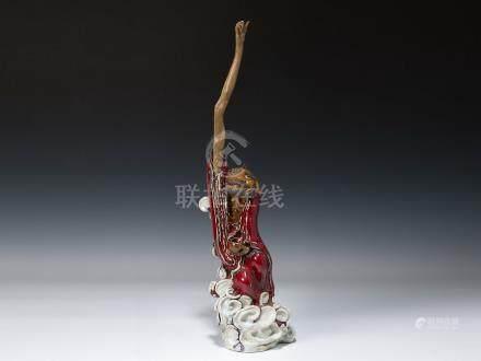 劉藕生(b.1949) 石灣摘星羅漢