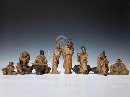 劉澤綿 石灣美術陶瓷廠製造 石灣八仙