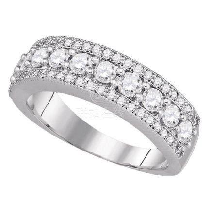 0.99 CTW Pave-set Diamond Symmetrical Parallel Ring