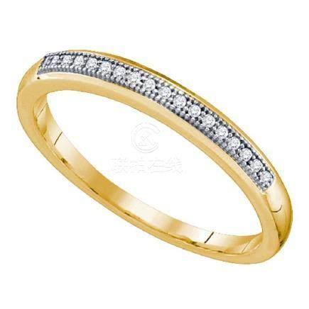 0.05 CTW Diamond Bridal Wedding Anniversary Ring 10KT