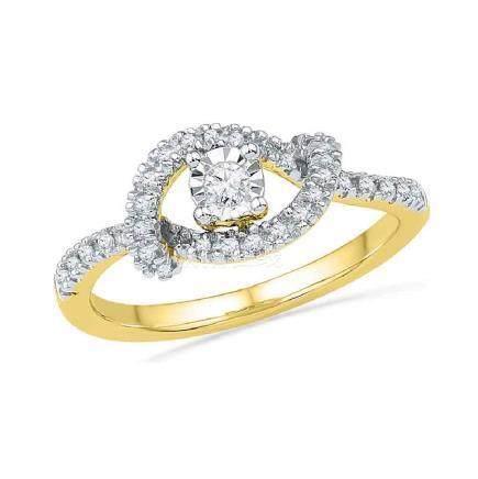 0.25 CTW Diamond Cradle Solitaire Promise Bridal Ring