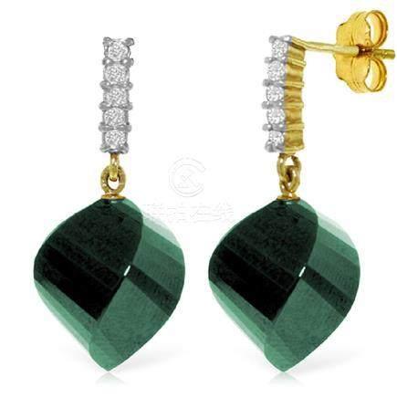 Genuine 30.65 ctw Green Sapphire Corundum & Diamond