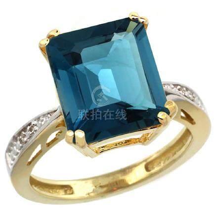 Natural 5.42 ctw London-blue-topaz & Diamond Engagement