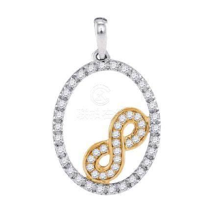 0.24 CTW Diamond Infinity Oval Pendant 10KT Two-tone