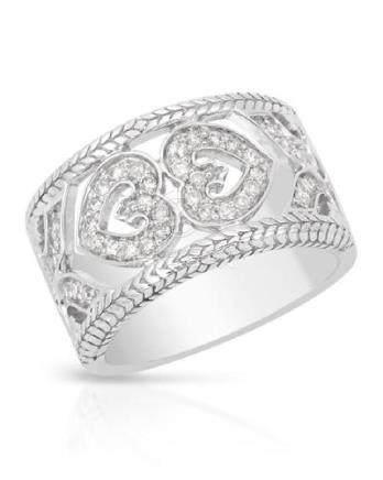 0.38 CTW Diamond Ring 14K White Gold - REF-68Y2X