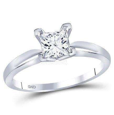 0.88 CTW Princess Diamond Solitaire Bridal Engagement