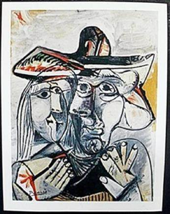 "Lithograph ""Kissing Faces""  Pablo Picasso"
