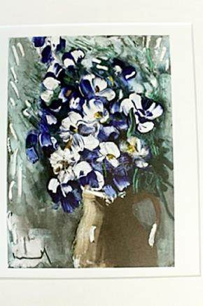 """Delphiniums"" Lithograph by Valmic"
