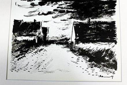 """Country Road End"" Lithograph by Valmic"